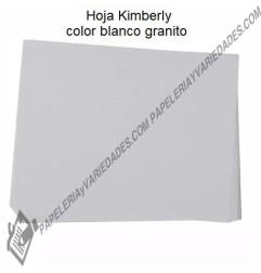 Hoja Kimberly blanco granito x 6